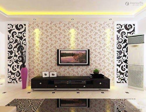 Wallpaper Dinding Ruang Tamu Unik