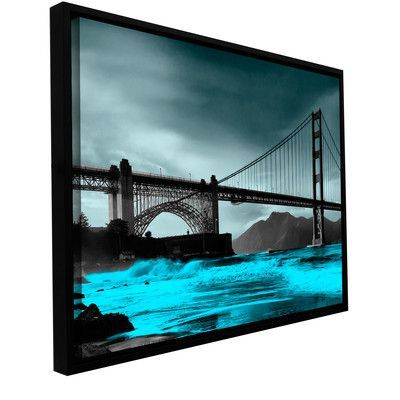 ArtWall 'San Fransisco Bridge II' by Revolver Ocelot Framed Photographic Print on Wrapped Canvas Size: