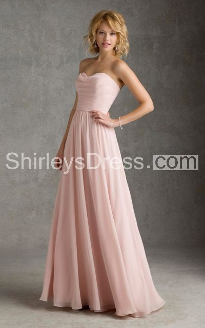 Femme Strapless Sweetheart Soft-pleated Layered Long Chiffon Dress