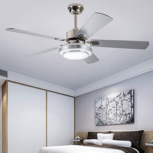 Enjoy Exclusive For Andersonlight Fan 52 Led Indoor Stainless Steel Ceiling Fan Light Remote Control Online Ceiling Fan Stainless Steel Ceiling Fan Contemporary Ceiling Fans