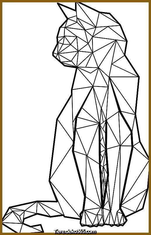 Geometrisches Tattoo Geometrische Katze Von Freddie O Brion