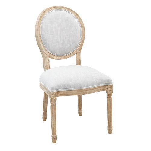 Elise Natural Whitewashed Dining Chair Natural Dining Chairs