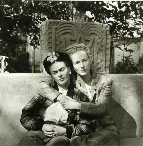 Frida Kahlo and Emmy Lou Packard, photographed by Diego Rivera, 1941.