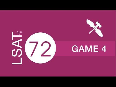 LSAT 72 u2013 Section 4 u2013 Game 4 - 7Sage lsat Law School Pinterest - new blueprint lsat games