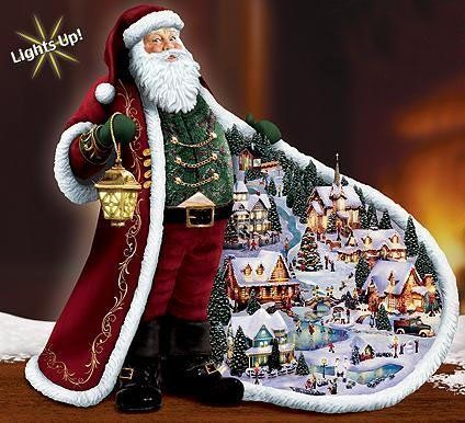 Unique christmas decorations thomas kinkade and home Cool christmas house decorations