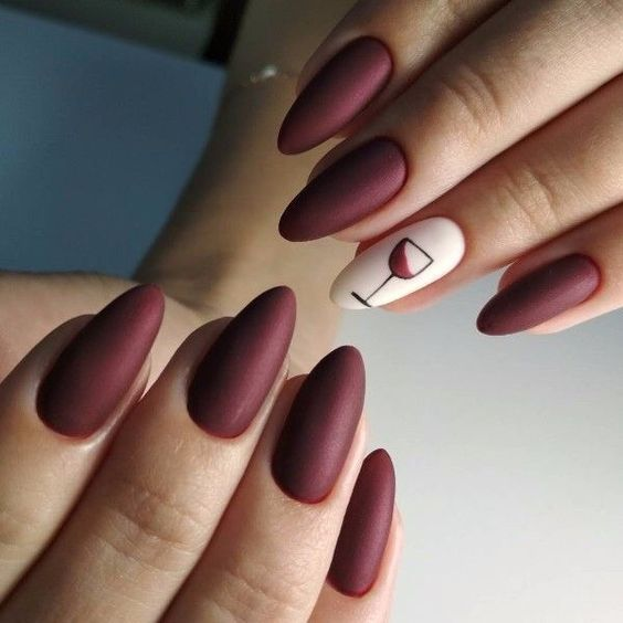 Matte Nails For Fall Simple Matte Nails Chic Nail Designs Easy Designs For Short Nails Winter Matte Nails Black Matt Wine Nails Champagne Nails Trendy Nails