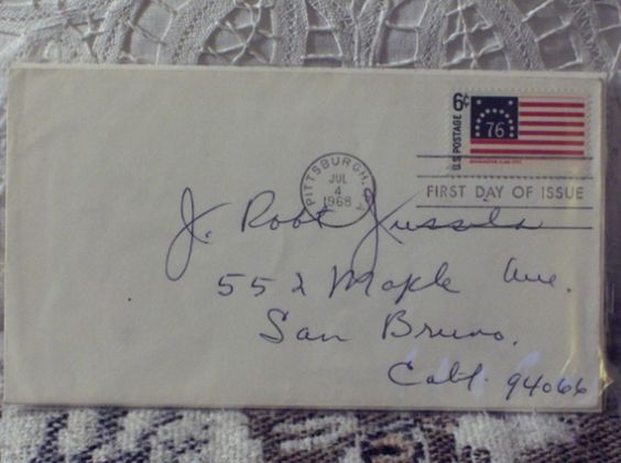 http://ajunkeeshoppe.blogspot.com/  First Day Issue/Cover-Stamp-Bennington Flag 1968 6c 8ozP724B4HP1142