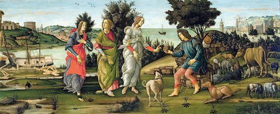 El Juicio de Paris, de Botticelli