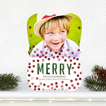 A Merry Spot - #Christmas Cards by Petite Alma for Tiny Prints in a vibrant Spanish Red