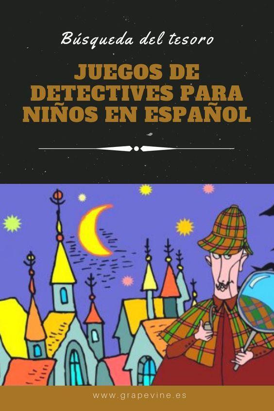 Juegos De Detectives Para Niños En Español Juegos De Misterio Búsqueda Del Tesoro Para Niños Detective