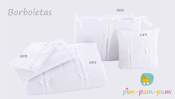 Roupa de Cama Borboletas Branco/ Bedding Butterfly White