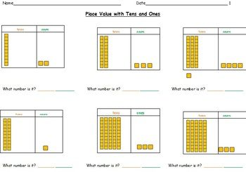 math worksheet : this worksheet introduces base 10 blocks using ongs and cubes  : Math Worksheets For Special Needs Students