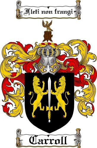 $7.99 Carroll Coat of Arms Carroll Family Crest Instant Download: