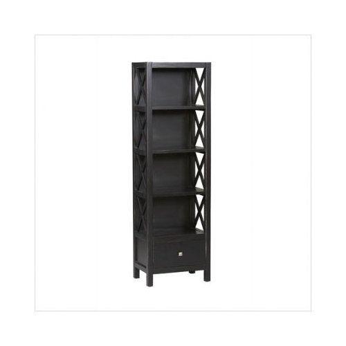 Linon Anna 5-Shelf Tall Bookcase