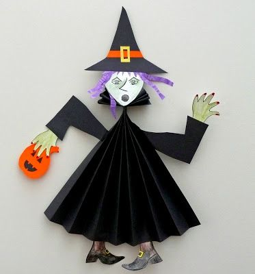 Paper Fold Witch.  http://www.thatartistwoman.org/2009/10/paper-fold-witch.html