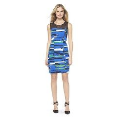 Printed Sheath Dress Multi-Colored M - XOXO #Target #Coupon #Codes #Promocodes #Discounts #Deals #Offers