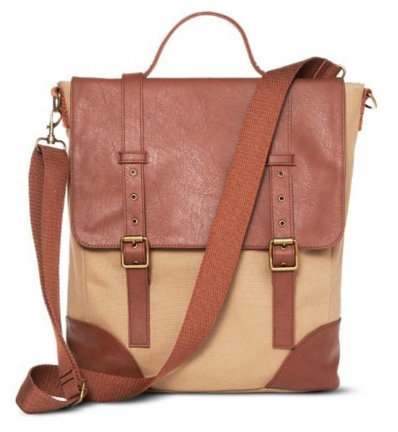 Men's Messenger Bag in Khaki