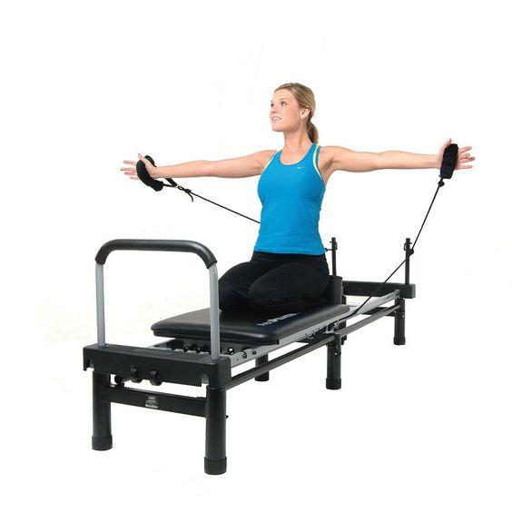 Stamina AeroPilates with Free-Form Cardio Rebounder, Black