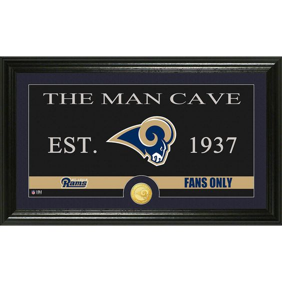 St. Louis Rams Man Cave Bronze Coin Panoramic Photo Mint