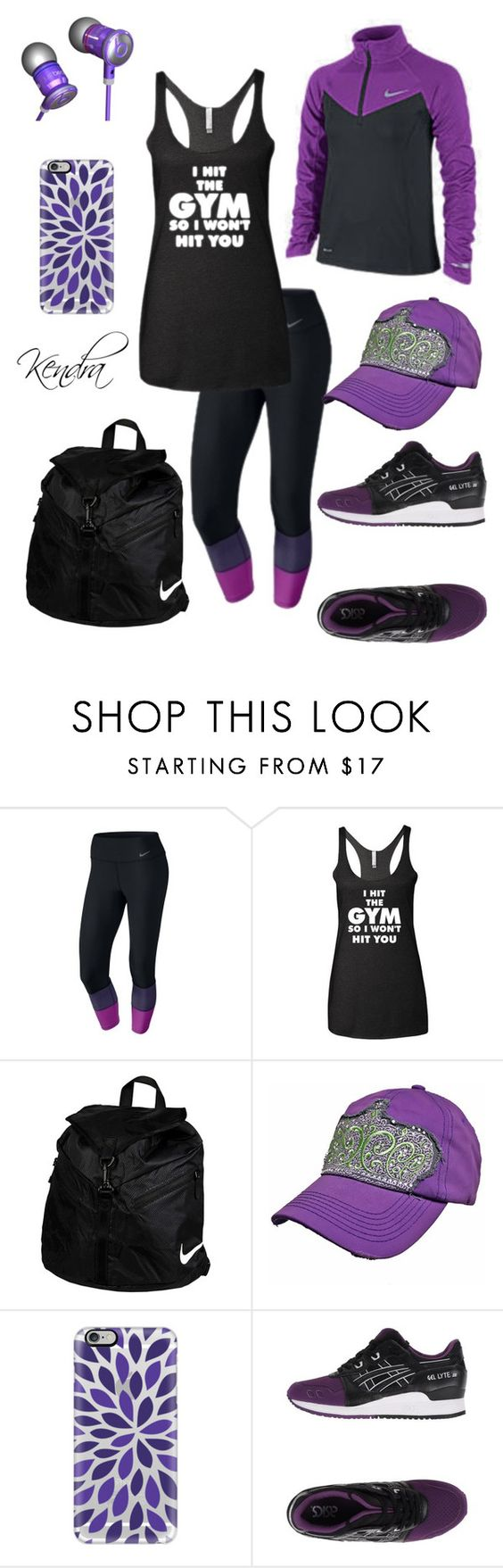 """I'm A Lover Not A Fighter"" by kmariestyles ❤ liked on Polyvore featuring NIKE, Beats by Dr. Dre, Casetify and Asics Tiger"