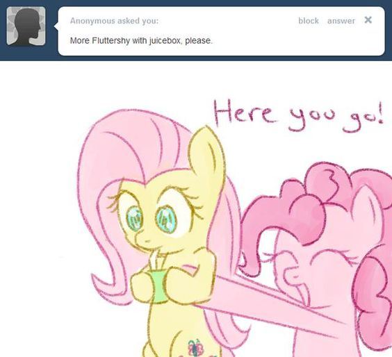 Fluttershy with juicebox?