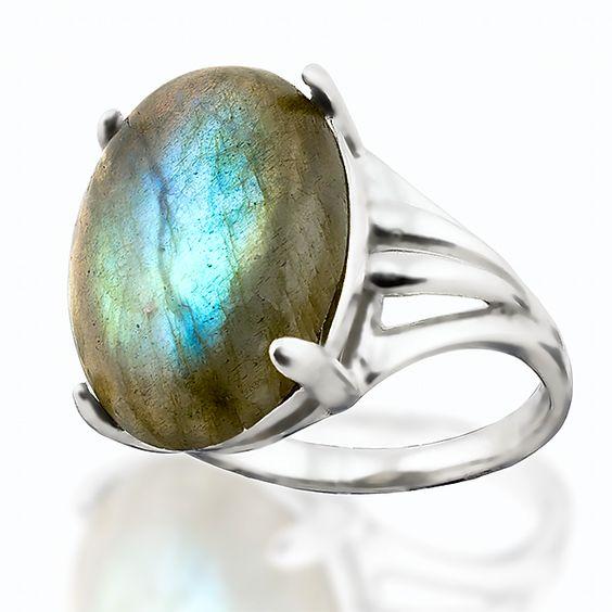 Лабрадор, серебро 925, кольцо, 119КЛ