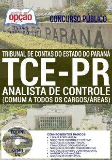 Apostila TCE PR Analista de Controle Concurso 2016 (PDF, Download, Digital, Impressa)