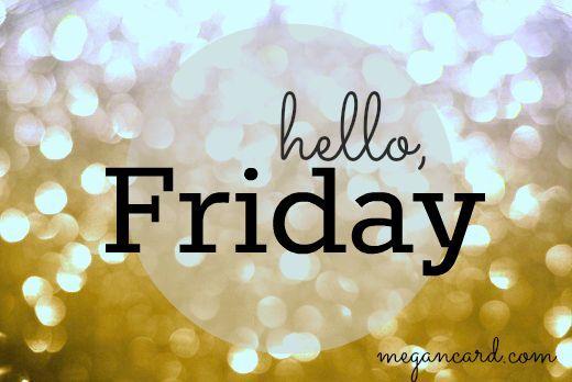 Buenos días! Sin darnos cuenta ya hemos llegado al viernes!