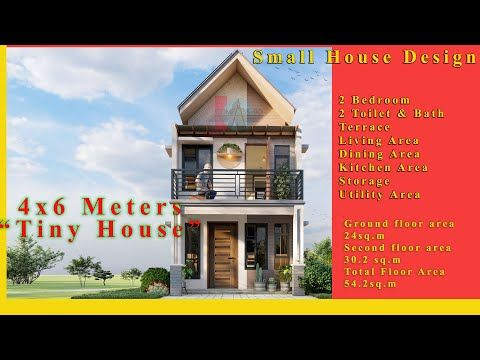 Two Storey Small House Design 4x6 Meters W 2 Bedroom And 2 T B Youtube Small House Small House Design House Design