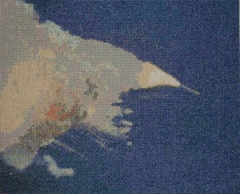 Adam Jon Moore's Space Shuttle Challenger cross stitch