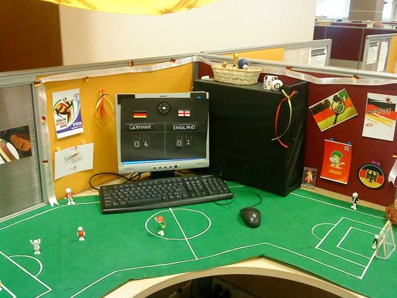 Image result for football cubicle halloween decorations