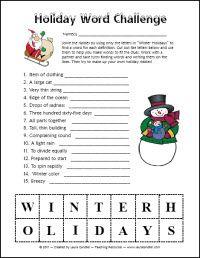 Holiday Word Challenge
