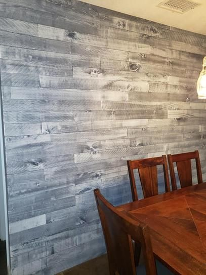 Weaber Weaber 1 2 In X 4 In X 4 Ft Nantucket Gray Poplar Weathered Board 8 Pack 27827 In 2020 Accent Walls In Living Room Distressed Wood Wall Flooring On Walls