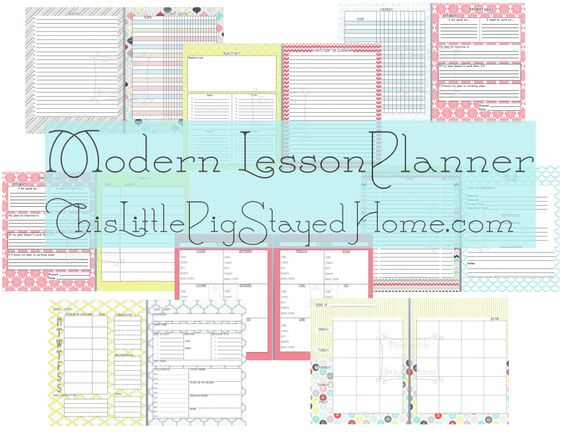 FREE & CUTE?!?!? Great planner for teachers & homeschoolers alike