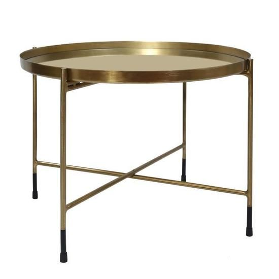 Table Basse Ronde Dusti Laiton Table Basse Ronde Table Basse Deco Table Basse