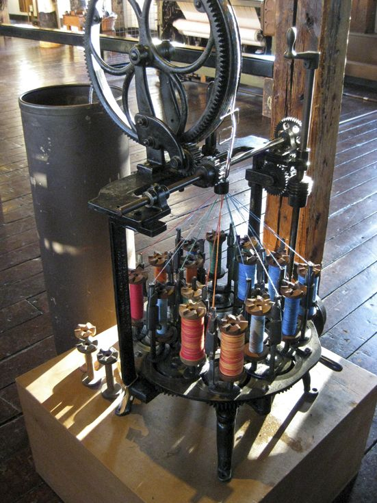 Weaving machine at Slater Mill in Pawtucket, RI