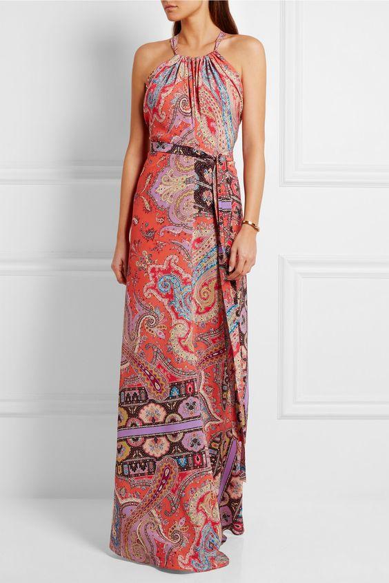 Etro | Printed silk crepe de chine maxi dress | NET-A-PORTER.COM