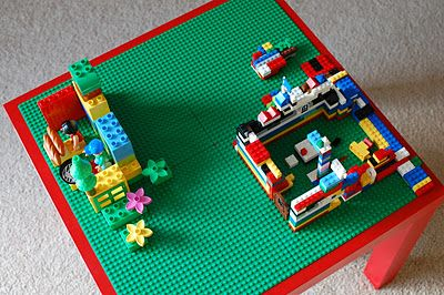 DIY Lego table using LACK from IKEA