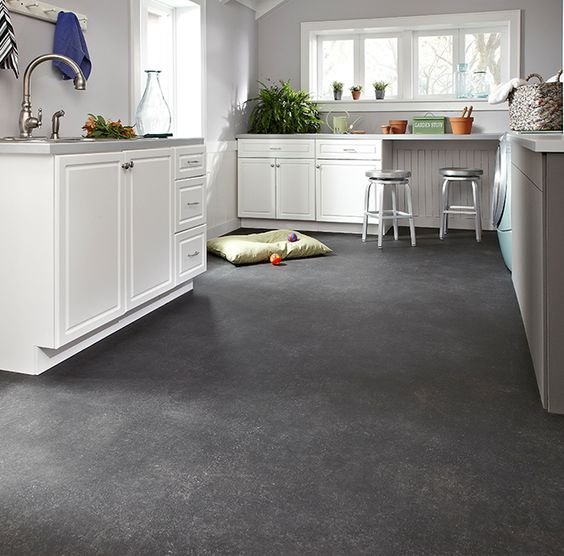 Vinyl tile flooring chivalry and vinyl tiles on pinterest for Vinyl kitchen flooring