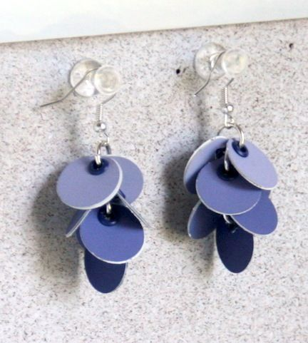 paint chip earrings