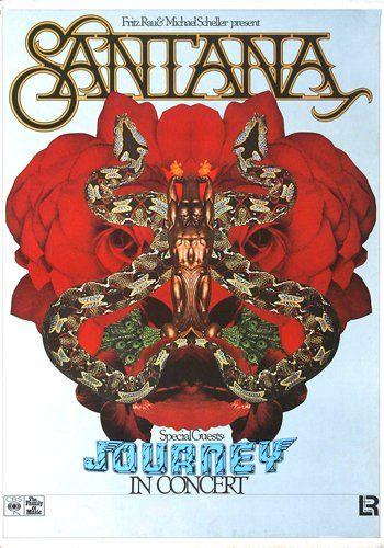 Santana - Amigos 1976 - Poster Plakat Konzertposter