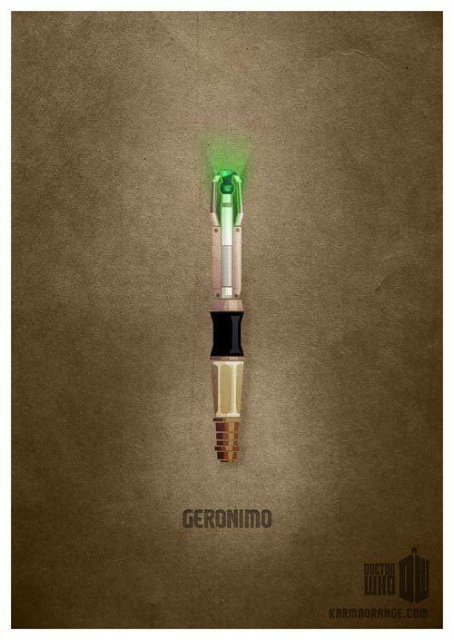 11th Doctor's Sonic Screwdriver print - Geronimo