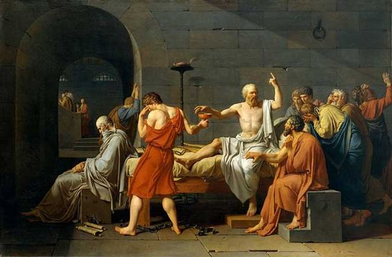The Art Curator for Kids - Kinesthetic Art History - Jacques-Louis David-The Death of Socrates