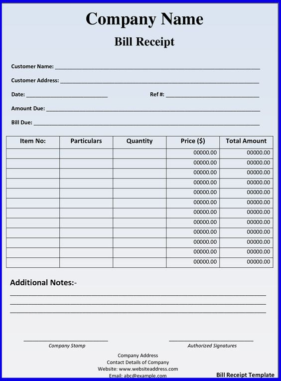 ... hotel bill receipt template hotel bill receipt template word format
