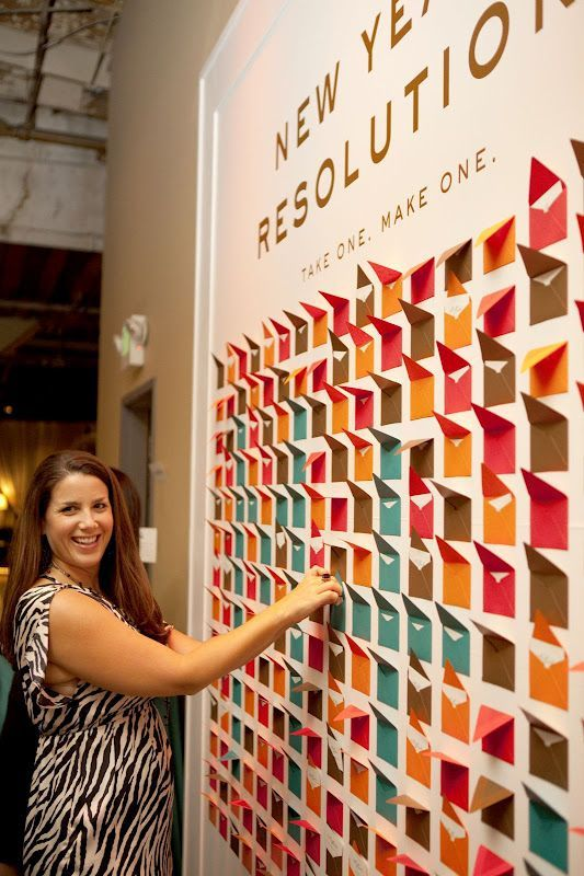 Create A Wall Of Resolutions For The New Year Take One Make One New Years Party New Years Eve Party New Years Eve Weddings