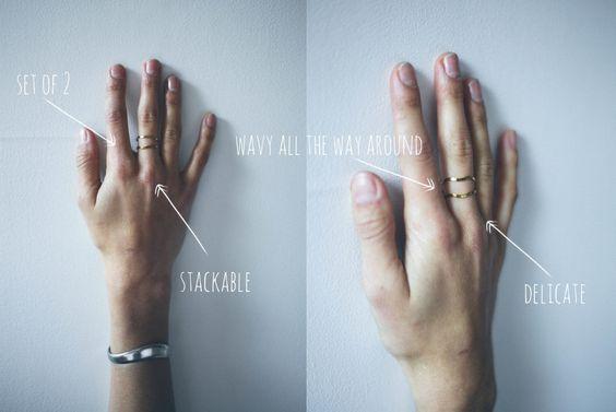 Image of Stackable Wavy Gold Rings #giveaway #kalos #pleasepickmeLindseyTeganandBethany!