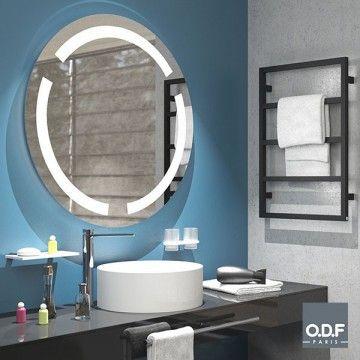 Miroir Led Retro Eclaire 3 Bandes Depolies Rond Et Antibuee O90cm Odfparis Bathroomaccessories Mirror Lightedmirror Miroir Salle De Bain Miroir Led Miroir