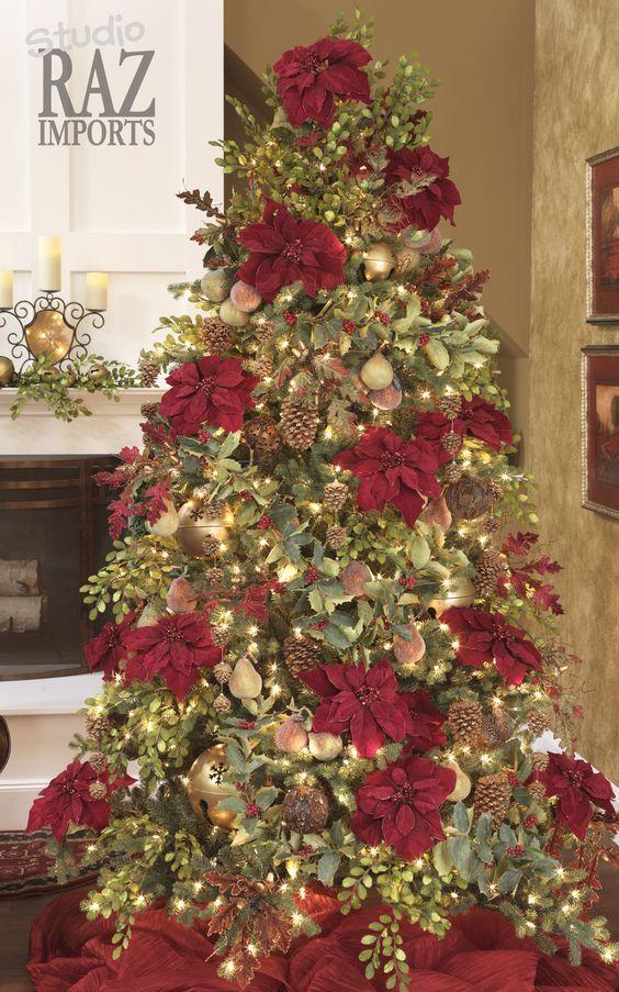 Arboles De Navidad Color Rojo Arboles De Navidad Rojo Y Dorado Arbol De Navidad Blanco Con Ro Holiday Christmas Tree Christmas Tree Christmas Tree Decorations