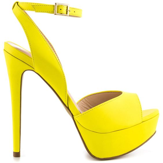 Aldo Women's Perelli - Yellow ($110) ❤ liked on Polyvore featuring shoes, sandals, heels, sapatos, yellow, heeled sandals, ankle tie sandals, aldo shoes, heels stilettos and ankle wrap sandals