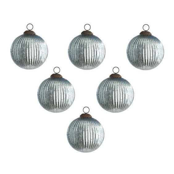 Classy & Glassy Ornaments - Sea Blue - New